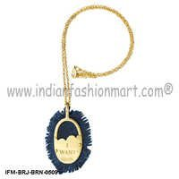 Pinnacle With Schatzi - Brass - Denim Pendant