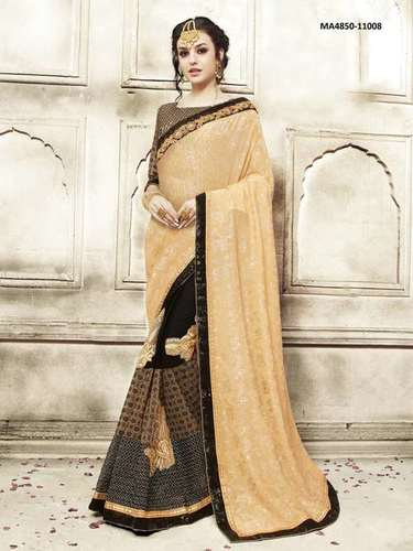 Georgette with Banglori Silk Saree