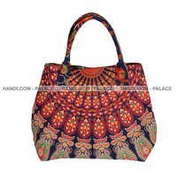 Ladies Cotton Shoulder Bags