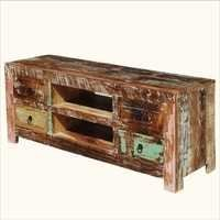 Reclaimed Wood Distressed Tv Media Console