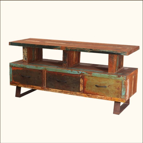 Old Age Reclaimed TV Entertainment Media Console
