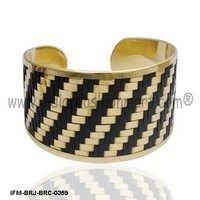 Jubilant weave  - Brass Cuff