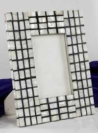 Black & White Block Mop Designe Picture Frame
