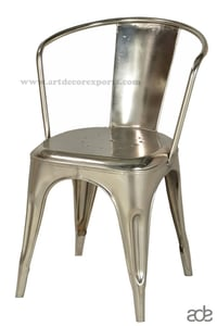 Industrial Cello Chair with Low Back