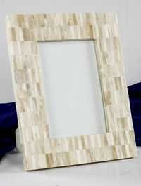 Gray White Mop Picture Frame