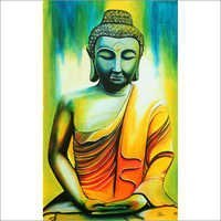 Lord Buddha Acrylic Painting
