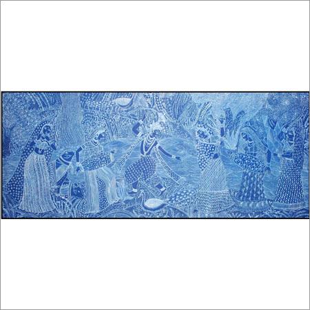 Watercolor Radha Krishna Painting