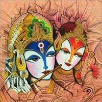 Lord Radha Krishna Acrylic Painting