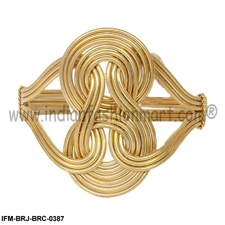 Pleasure  of  Eight -  Brass Wire Cuff