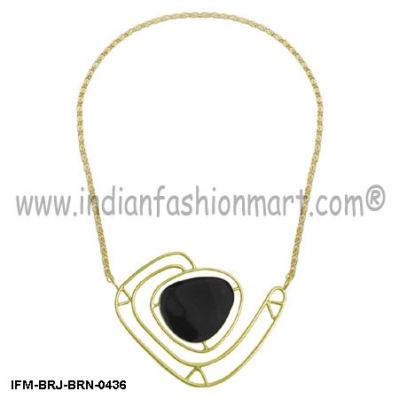 Renascent  Elegance - Brass Necklace