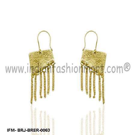Yea-sayer Magnificence - Brass Earrings