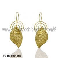 Majestic Frondescence  - Brass Earrings