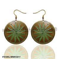 Sun glint - Brass Earrings