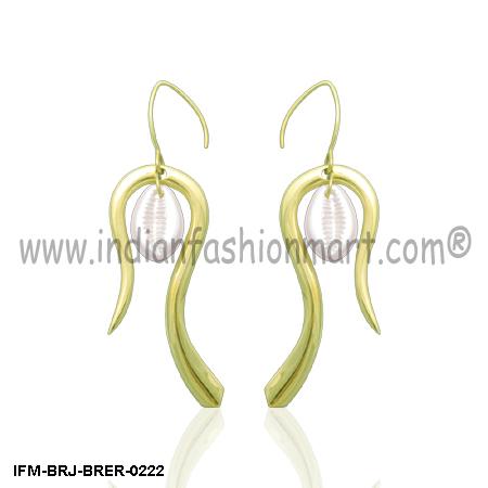 Ophidian Finesse  - Brass Earrings