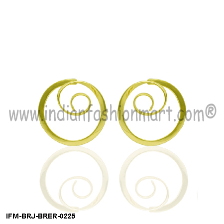 Circumvolve  Appeal  - Brass earrings