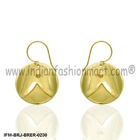 Paean Joy  - Brass Earrings