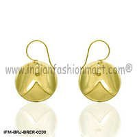 Paean Joy  - Brass Earrings