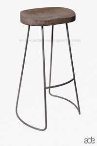 Wooden Grey Stool