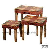 Wood Nested Stool