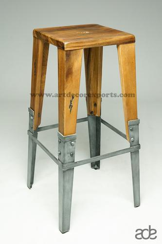 Metal Wood Stool