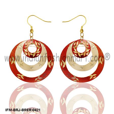 Festive Looks - Brass Earrings