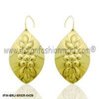 Auriferous  Spring   - Brass Earrings