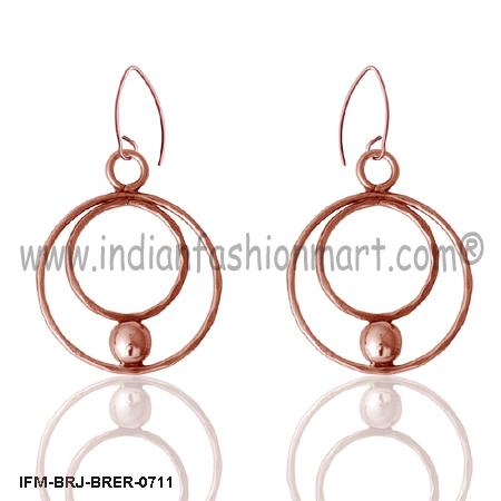 Mars Enigma - Brass Earrings
