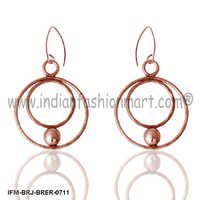Mars Enigma - Brass Earrings