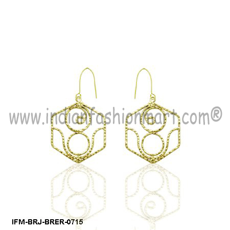 Juvenilia Grace   - Brass earrings