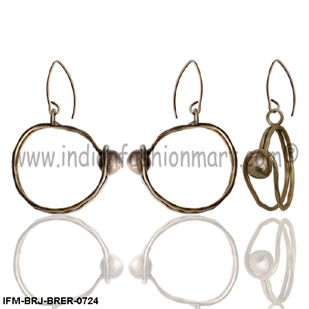 Magnificent  Roundella - Brass Earrings