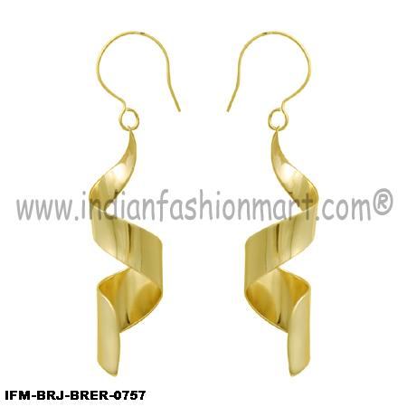 Gleam of DNA - Brass Earrings