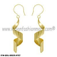 Gleam of DNA - Brass Earrings