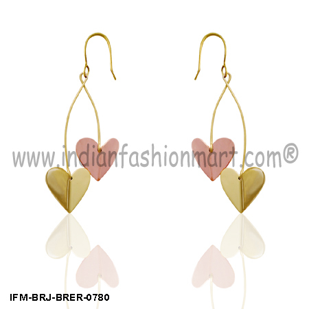 Love Rally - Brass Earrings