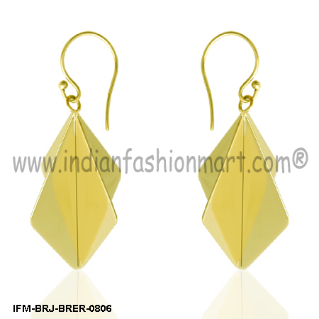 Magnificent Pod - Brass Earrings