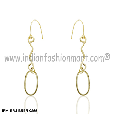 Ample  Inveigle - Brass Earrings
