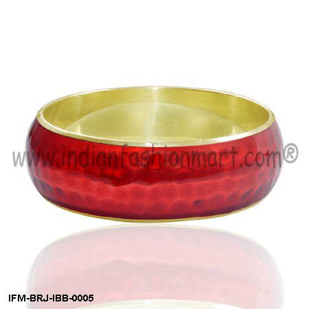 Sensual  Touch- Brass Bangle