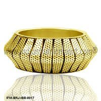 Golden Cuneate  - Brass Bangle