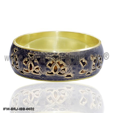 Bumptious Glitz  - Brass Bangle