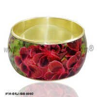 Scintillating Blossom - Brass Bangle