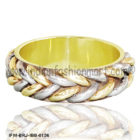 Pally  Braids -Brass Bangle