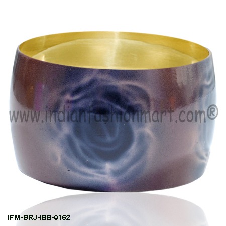 Cloudland Rose - Brass Bangle