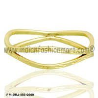 Sparkling Serac - Brass Bangle