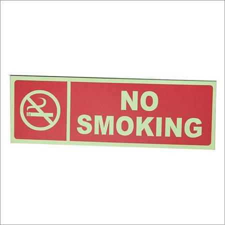 Fire No Smoking Signage