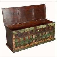 Reclaimed Wood Bed Storage Trunk Chest