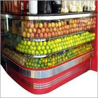 Steel Stainless Fruit Display Counter