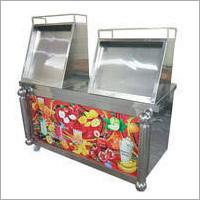 Steel Fruit Display Counter
