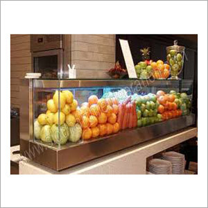 Glass Fruit Display Counter