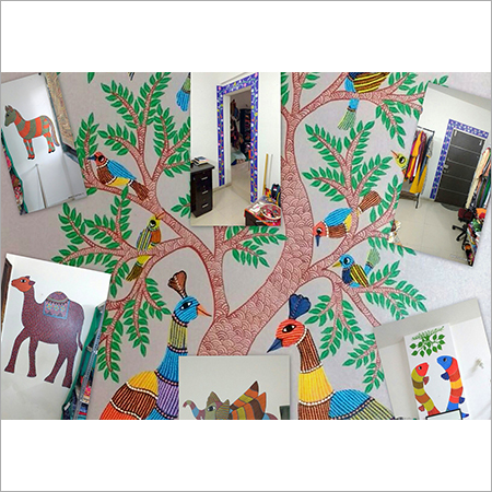 Gond Painitng On Wall