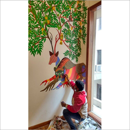 Gond Painting on Wall