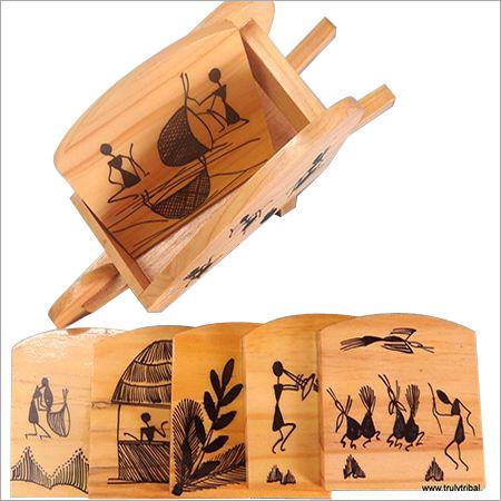 Warli Wooden Coasters